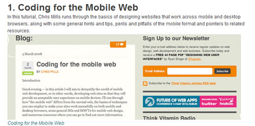 A Roundup of Mobile Web Design Tutorials