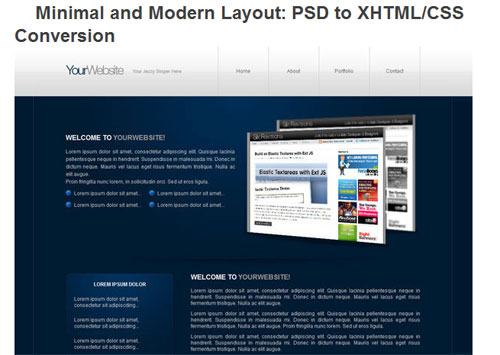 A Roundup of 22 Cutting Edge PSD to HTML Tutorials