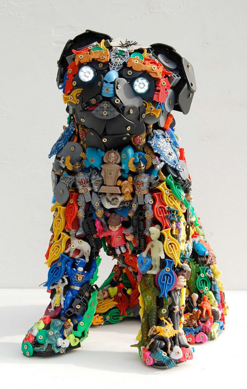 40 terrific works of art made from common trash noupe for 3d art sculpture ideas