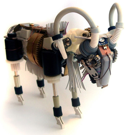 Robot Sculpture From Recycled Materials