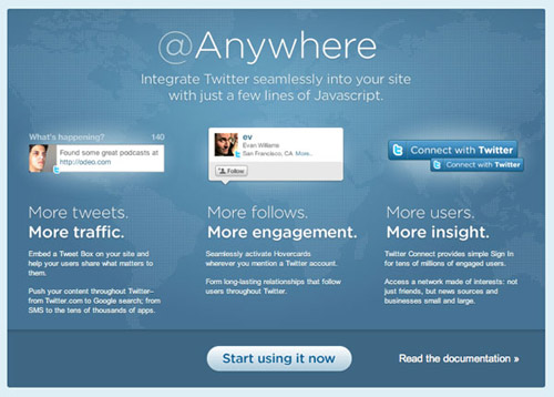 Using Twitter's @Anywhere Service in 6 Steps