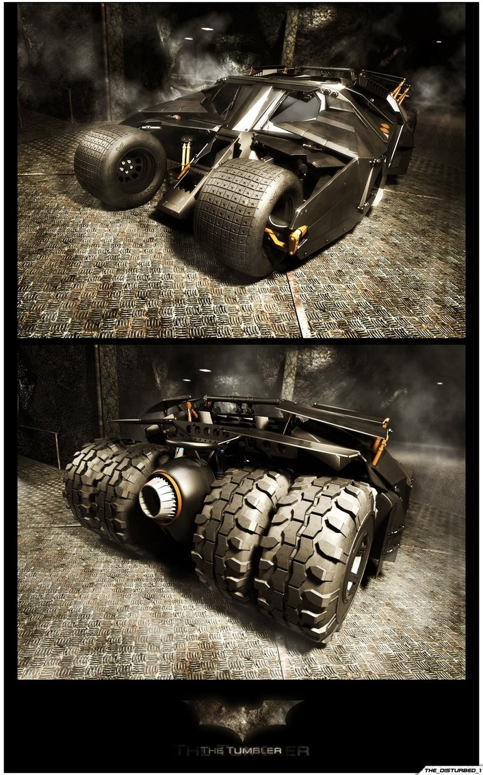 Image: Artist-tortured - Batmobile - The Tumbler