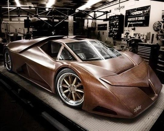 Image: Wooden car