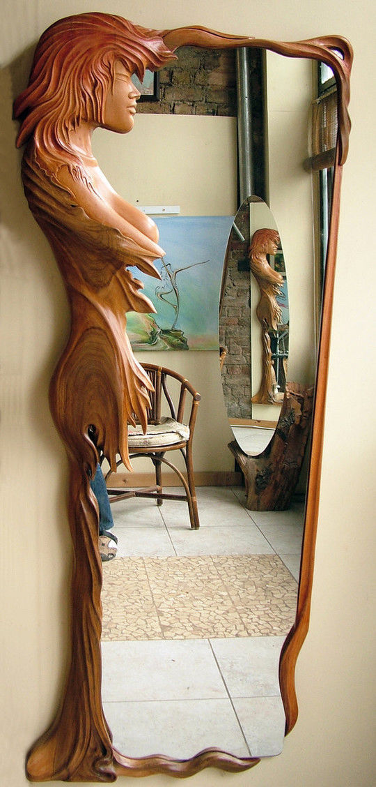Image: Ayhantomak - Design Mirror - wood