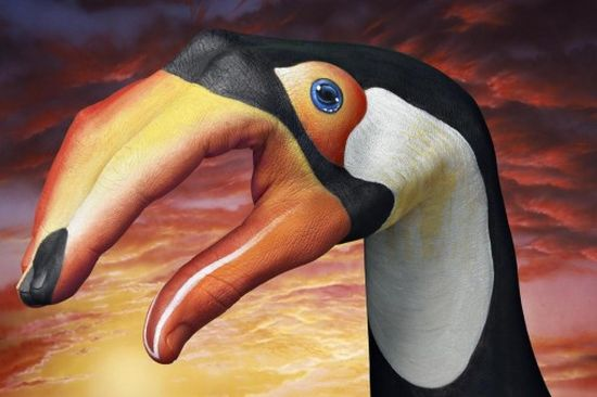 Hand painting art by guido daniele noupe for Hand painted portraits from photos