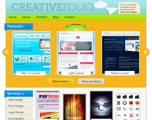 How to Make a Vibrant Portfolio Web Design in Photoshop