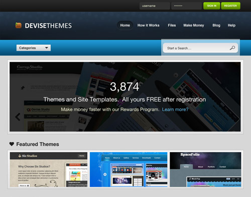 Create a Theme Store Website Layout in Photoshop