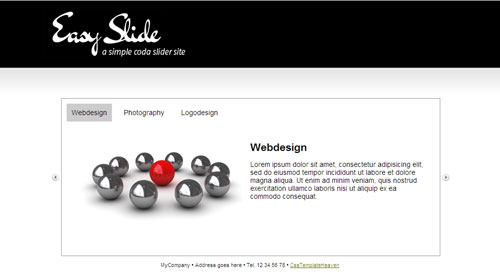 40 elegant free css x html templates from 2010 noupe for Table design template css