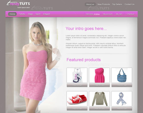 learn how to create an ecommerce theme for magento or prestashop using photoshop