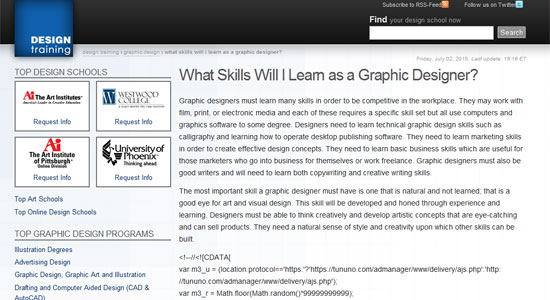 what skills will i learn as a graphic designer