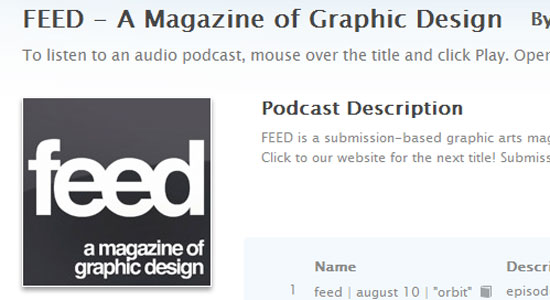 feed graphic design magazine