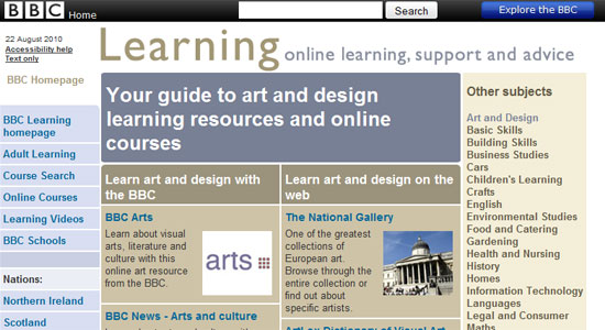 bbc learning art and design