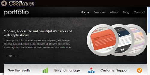 40 elegant free css x html templates from 2010 noupe