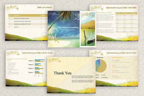 40 awesome keynote and powerpoint templates and resources noupe this template set has a muted color palette with hills and hot air balloon in the background suitable for travel and other industries toneelgroepblik Choice Image