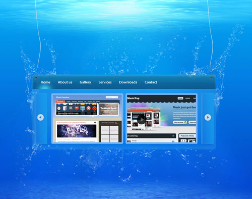 Underwater Content Box Design in Photoshop