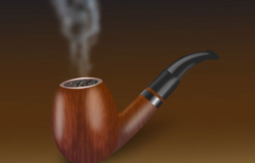 Wooden Smoking Pipe