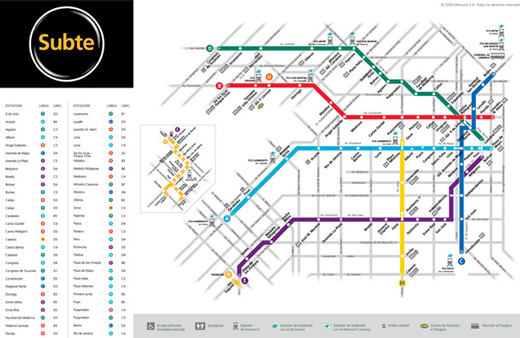 Metro And Underground Maps Designs Around The World Noupe - Argentina subte map