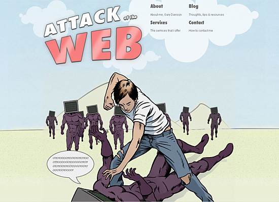 attack of the web website design