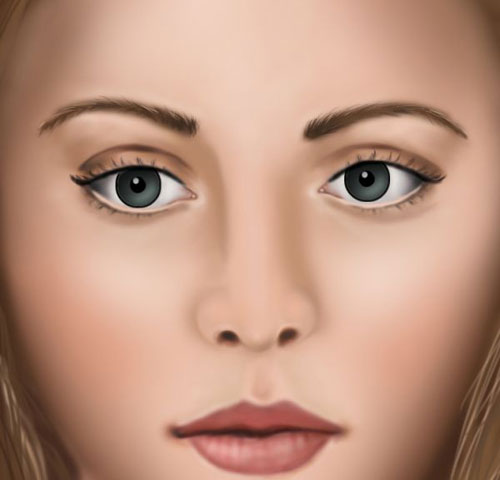 How to Paint a Realistic Proportioned Female Face from Scratch
