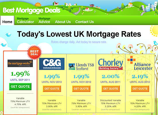 best mortgage deals website design