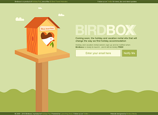birdboxx website design