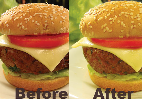 Photo Treatment: A Delicious Hamburger