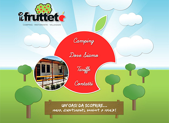 campingilfrutteto website design
