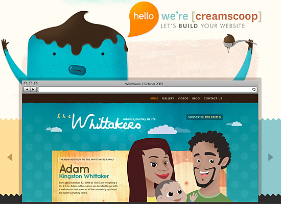 creamscoop website design
