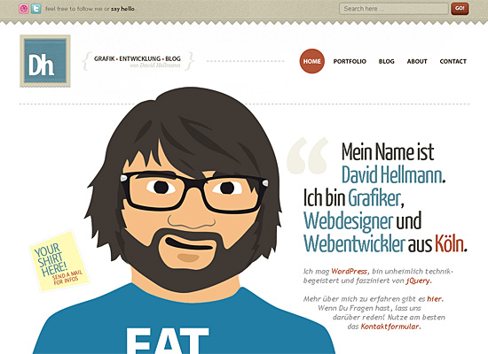 david hellmann website design