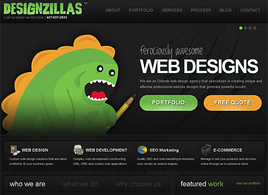 designzillas website design