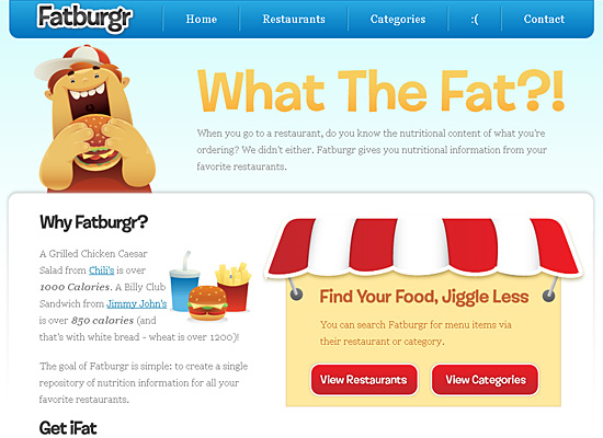 fatburgr website design