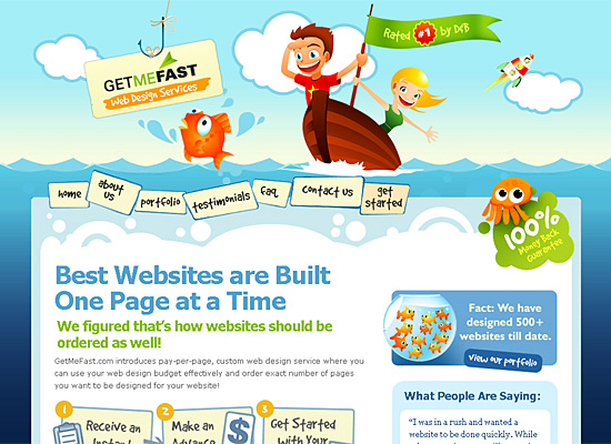 getmefast website design