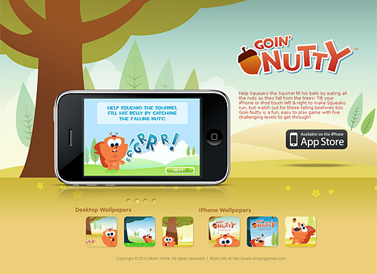 goin nutty website design