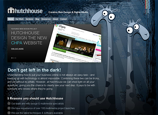 hutchhouse website design