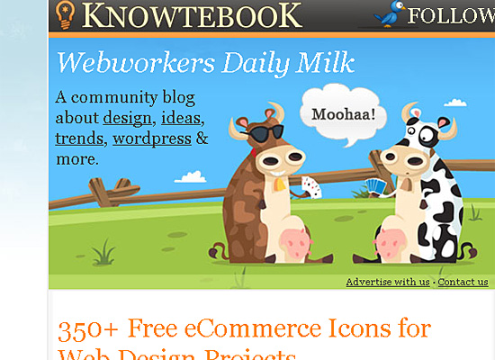knowtebook website design