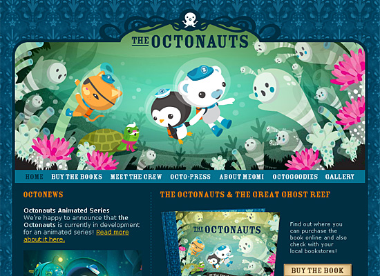 octonauts website design