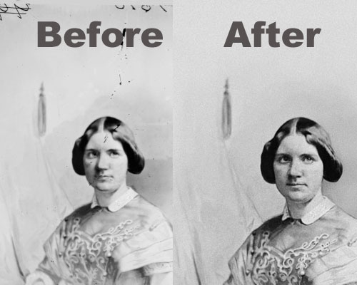 How To Repair Scratches, Tears, and Spots on an Old Photograph