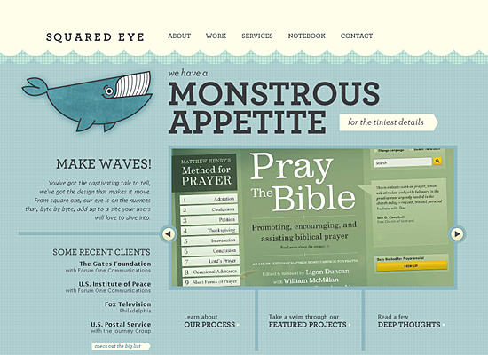 squared eye website design