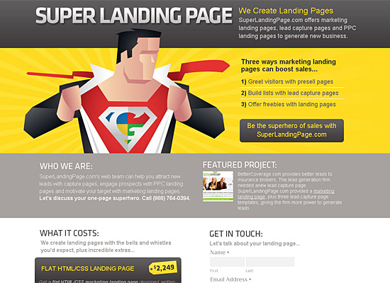 superlandingpage website design