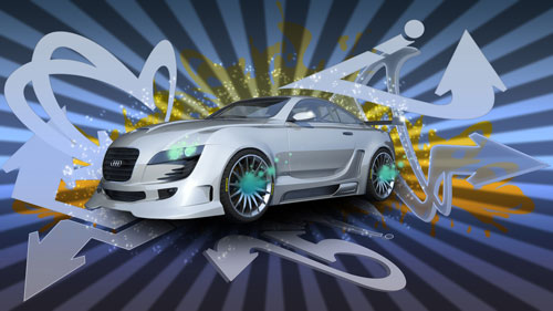 Creating A Graffiti Car Wallpaper