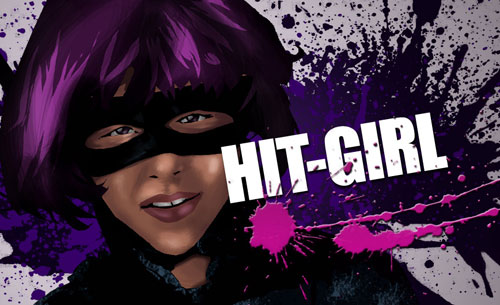 Graphic Wallpaper: Hit-Girl
