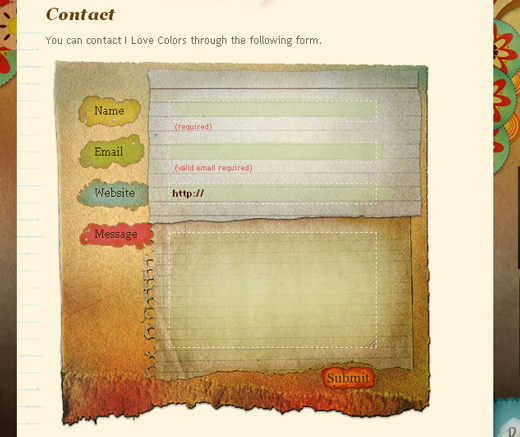 Showcase Of Creative But Not Necessarily Usable Contact Forms Noupe