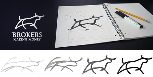Creative Brainstorming 50 Examples Of The Logo Design Process