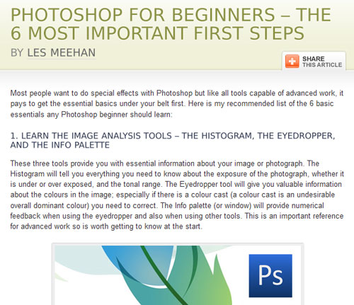Photoshop for beginners: important first steps