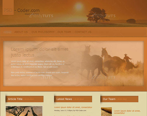 How to Create a Nice Brown Layout in Photoshop