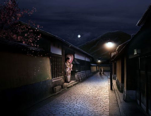 Combine Stock Photography to Create a Sleepy Japanese Village in Photoshop