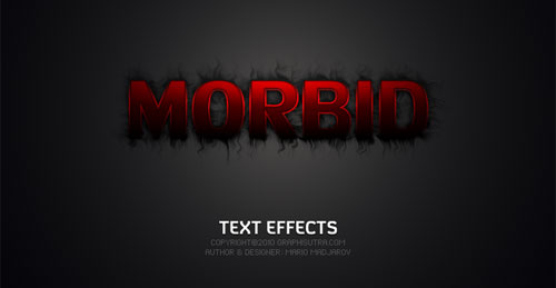 Morbid Text Effects
