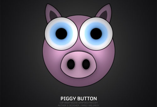 Piggy Button Photoshop Tutorial