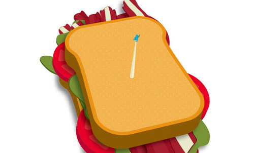 Make a Delicious Sandwich with Easy 3D Illustration Techniques