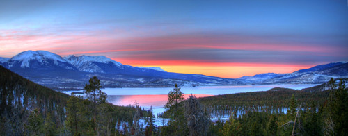 Lake Dillon East Sunset Panorama